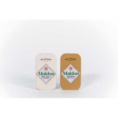 Sól morska MALDON w puszce BIAŁA i WĘDZONA kpl TIN. Wysyłka gratis od 99z!!!
